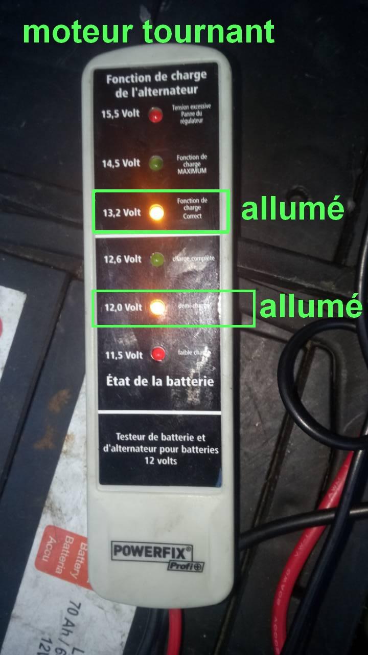 batterie ou alternateur ou testeur 0-02-020