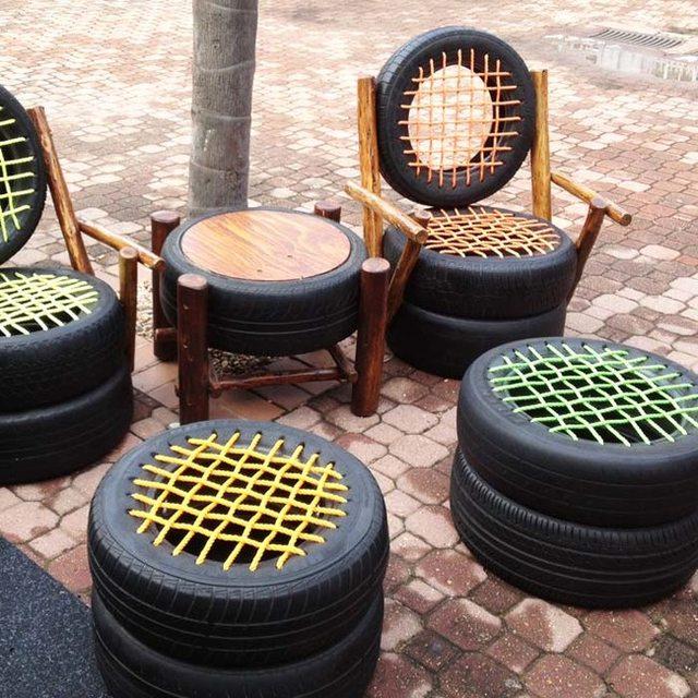 Recycler des pneus. Ylseeq10