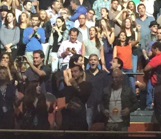 George Clooney visited U2 concert in LA May 30, 2015 Aa10