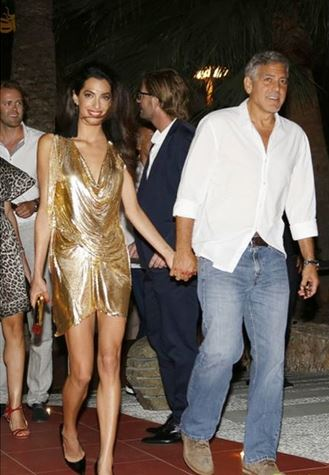 George & Amal Clooney, the Gerbers at the Ibiza launch of their Casamigos tequila August 23, 2015 Aa15