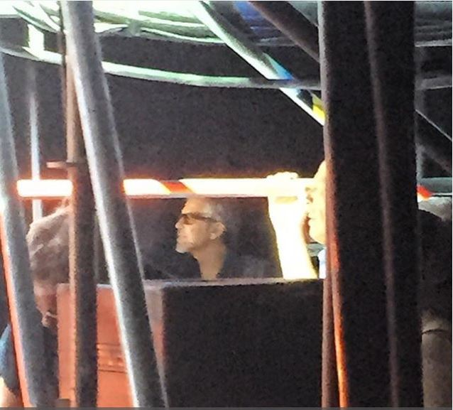 George Clooney at the Toto World Tour concert in Milan 03. July 2015 Aa211