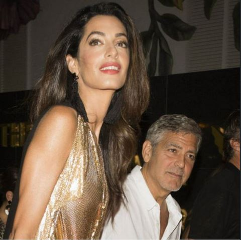 George & Amal Clooney, the Gerbers at the Ibiza launch of their Casamigos tequila August 23, 2015 Aa213