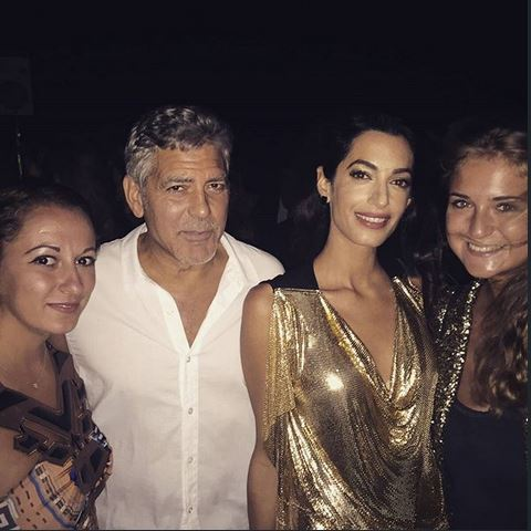 George & Amal Clooney, the Gerbers at the Ibiza launch of their Casamigos tequila August 23, 2015 Aa611