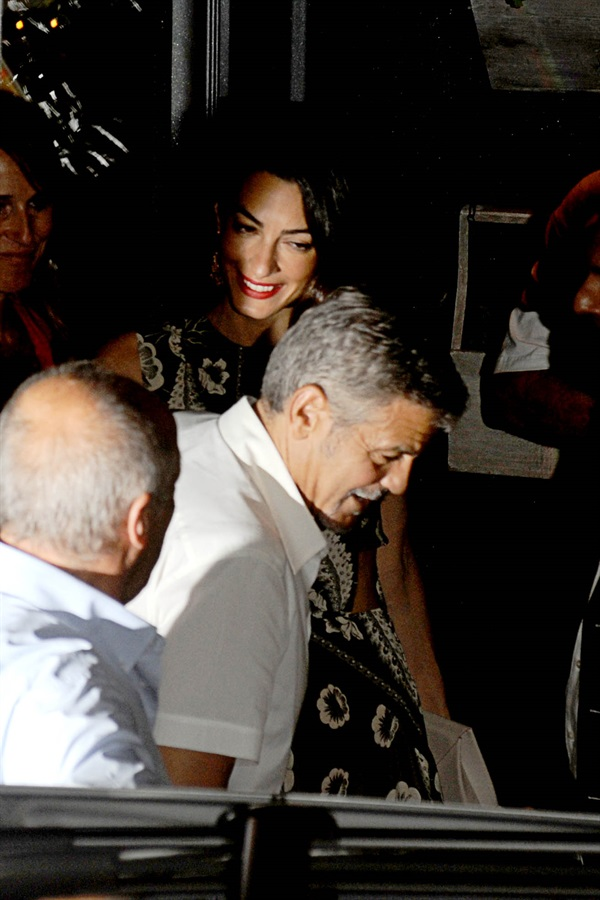 George Clooney and wife Amal take family out to dinner 14 july Cc12