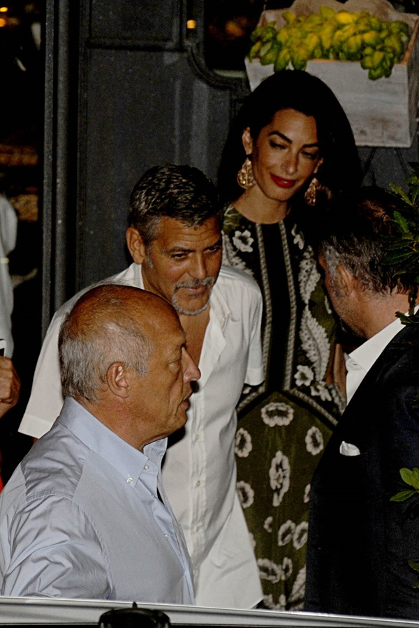 George Clooney and wife Amal take family out to dinner 14 july Cc210