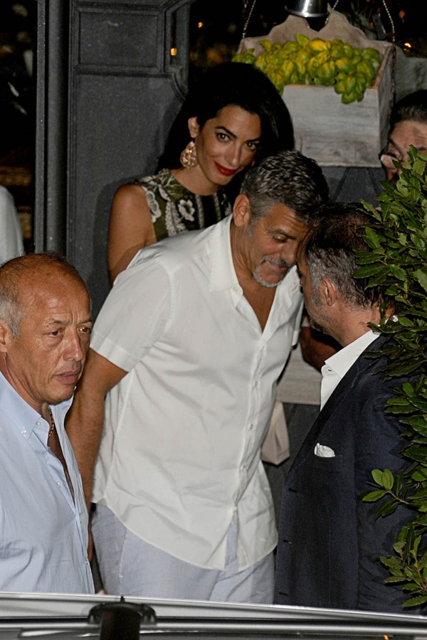 George Clooney and wife Amal take family out to dinner 14 july Cc510