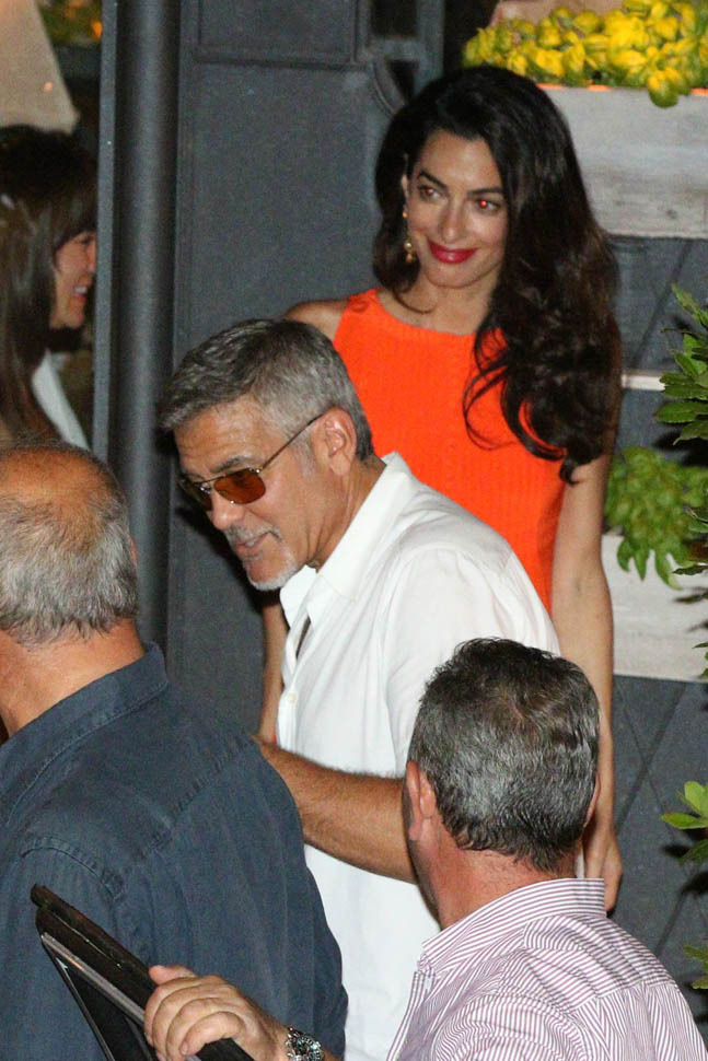 George Clooney takes wife Amal for a night on the town 6th July 2015 Ii11