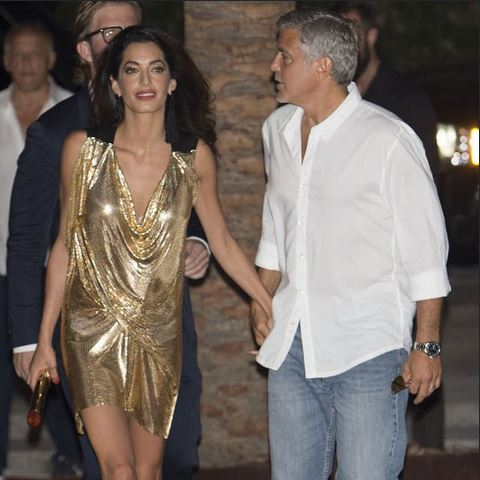 George & Amal Clooney, the Gerbers at the Ibiza launch of their Casamigos tequila August 23, 2015 Ii13