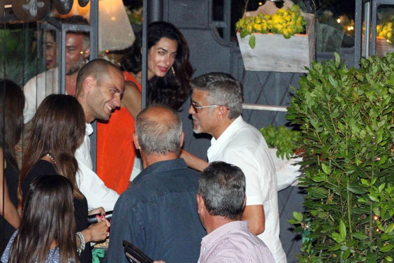 George Clooney takes wife Amal for a night on the town 6th July 2015 Ii210