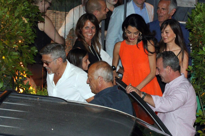 George Clooney takes wife Amal for a night on the town 6th July 2015 Ii310