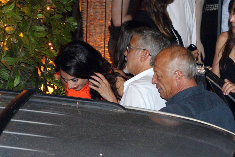 George Clooney takes wife Amal for a night on the town 6th July 2015 Ii410