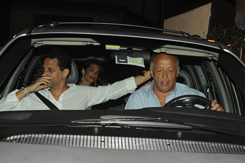George Clooney and wife Amal take family out to dinner 14 july Oo13