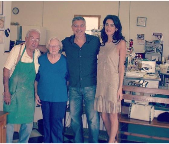 George Clooney and Amal visit the Maysville bakery in Kentucky 04. June 2015 Pp11