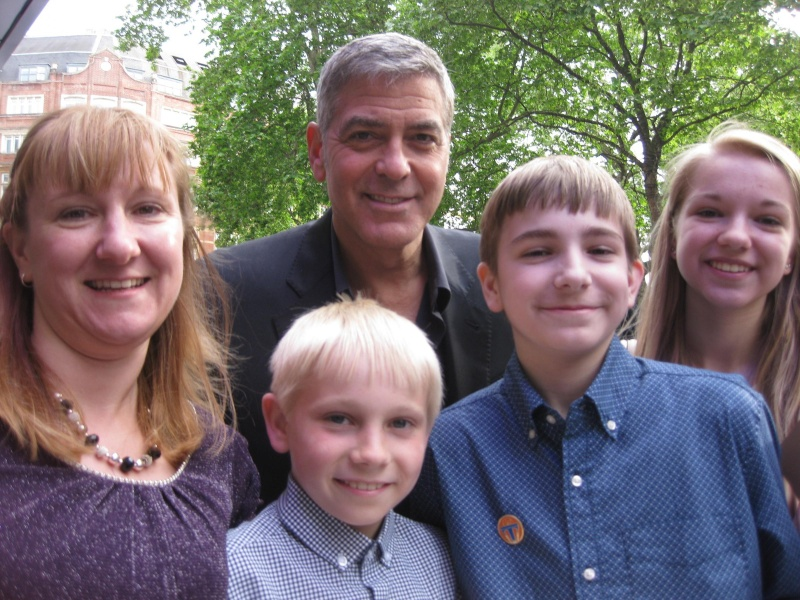 George Clooney at the Tomorrowland Premiere in London 17. May 2015 Qq10