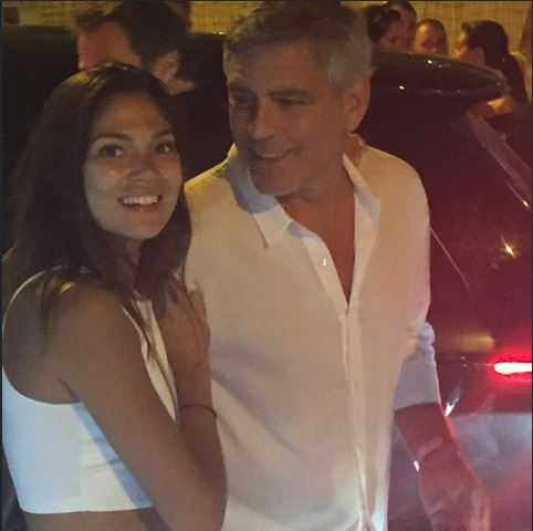 George & Amal Clooney, the Gerbers at the Ibiza launch of their Casamigos tequila August 23, 2015 Ss312