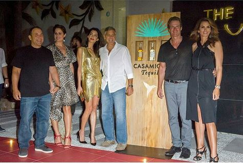 George & Amal Clooney, the Gerbers at the Ibiza launch of their Casamigos tequila August 23, 2015 Ttt11