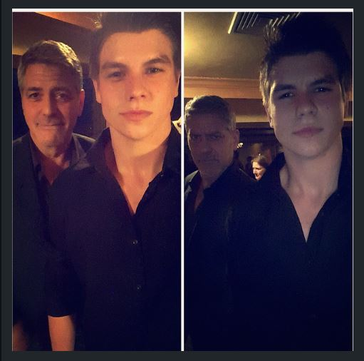 George Clooney out for dinner with his dad and sang happy birthday - Kentucky 02. June 2015 Uu10