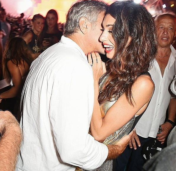 George & Amal Clooney, the Gerbers at the Ibiza launch of their Casamigos tequila August 23, 2015 Yy11