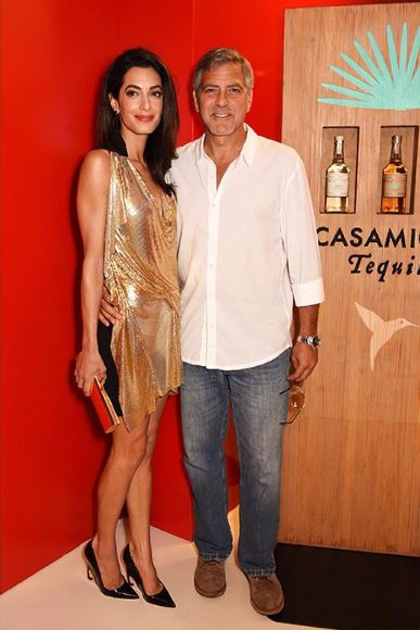 George & Amal Clooney, the Gerbers at the Ibiza launch of their Casamigos tequila August 23, 2015 Yy310