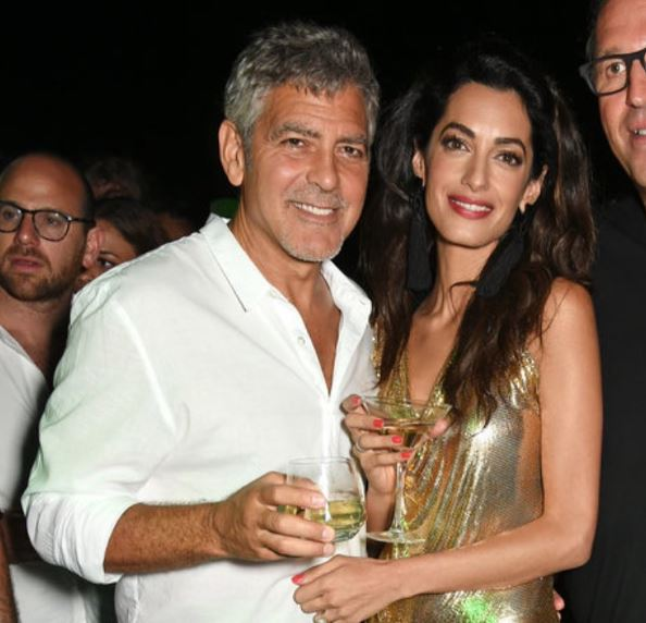 George & Amal Clooney, the Gerbers at the Ibiza launch of their Casamigos tequila August 23, 2015 Yy510