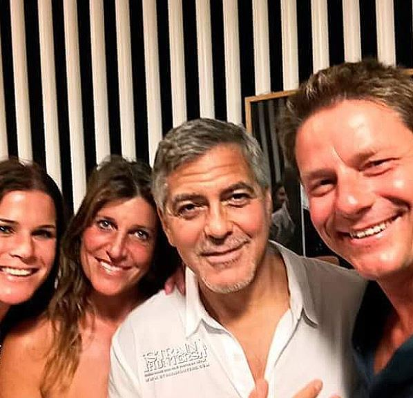 George & Amal Clooney, the Gerbers at the Ibiza launch of their Casamigos tequila August 23, 2015 Yy710