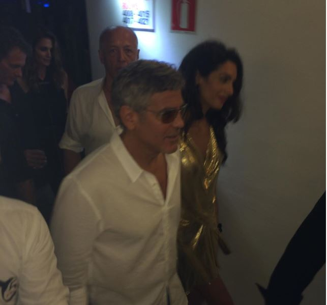George & Amal Clooney, the Gerbers at the Ibiza launch of their Casamigos tequila August 23, 2015 Yy910