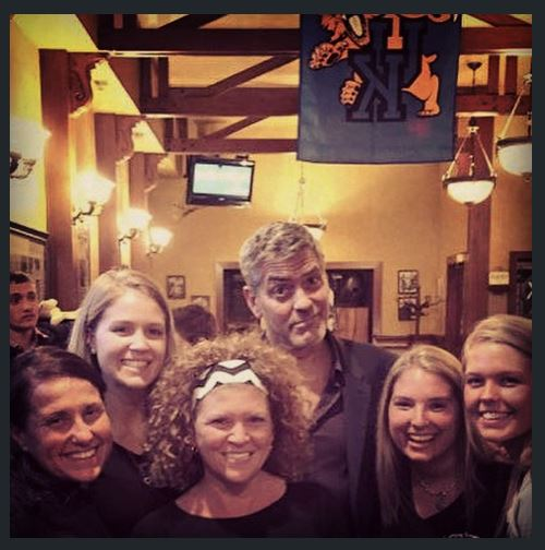 George Clooney out for dinner with his dad and sang happy birthday - Kentucky 02. June 2015 Zz11