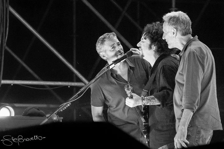 George Clooney at the Toto World Tour concert in Milan 03. July 2015 Zz12