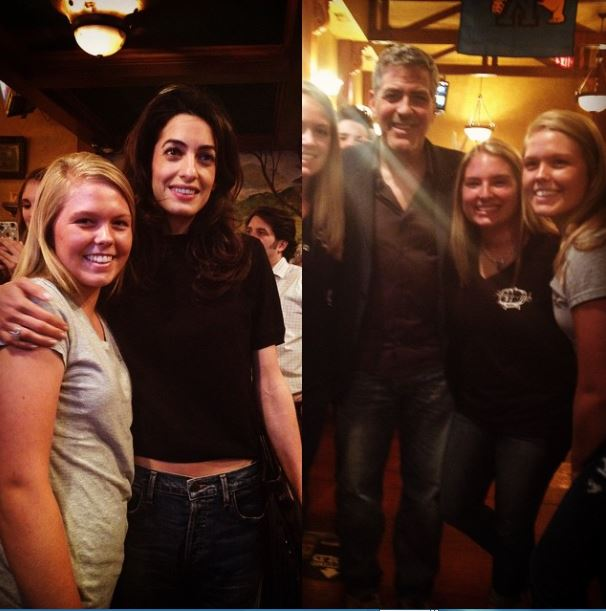 George Clooney out for dinner with his dad and sang happy birthday - Kentucky 02. June 2015 Zz211