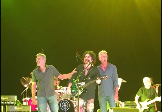 George Clooney at the Toto World Tour concert in Milan 03. July 2015 Zz310