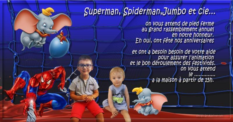 montage invitation anniversaire assez urgent Spider12