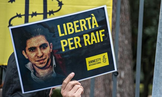 Raïf Badawi : 1000 coups de fouet et 10 ans de prison pour s'être exprimé Protes10