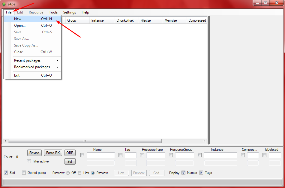 How to merge .package files. Screen16