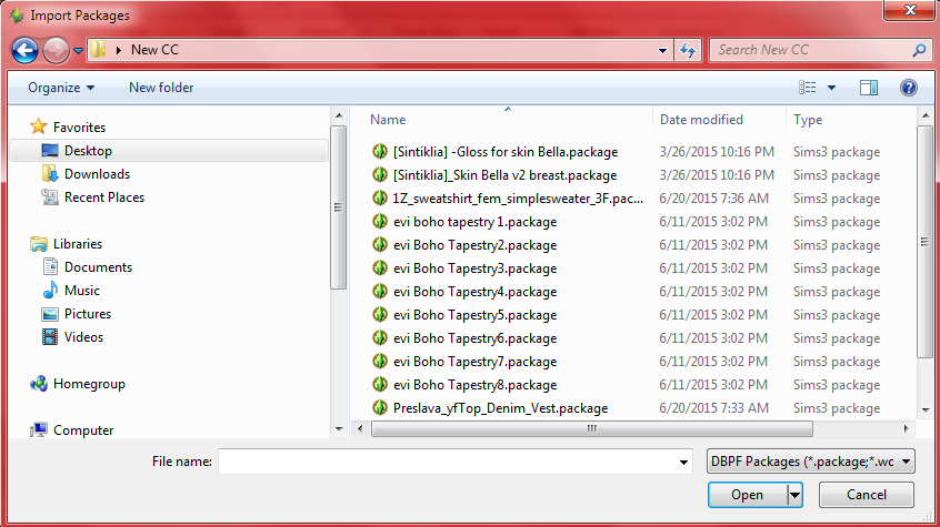 How to merge .package files. Screen18