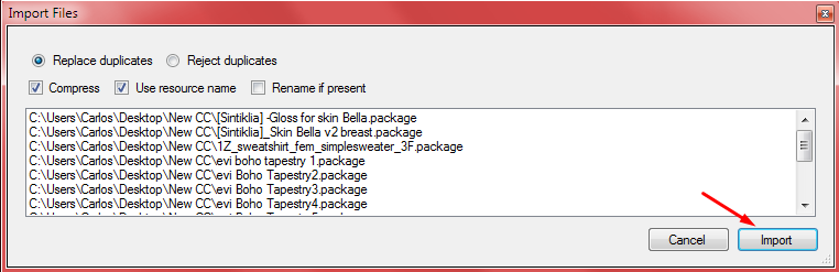 How to merge .package files. Screen19