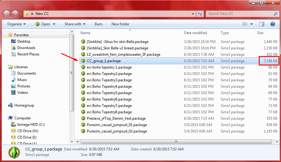 How to merge .package files. Screen21