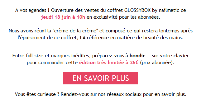 Box NAIL MATIC Juin 2015 Glossy10
