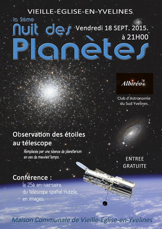 2e nuit des planètes à Vieille Eglise Affich10