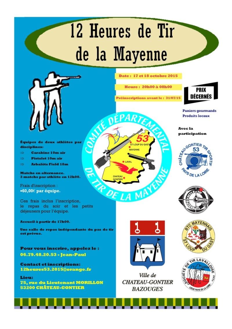 Les 12 heures de tir de la Mayenne !!!!!!!  Affich11