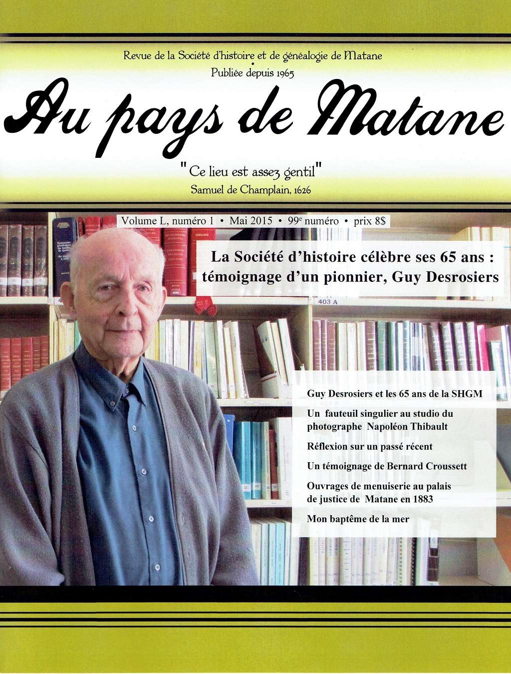 Société de généalogie de Matane Au-pay10