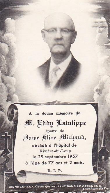 Phil Latulipe,Joseph Latulippe et Henriette Pelletier - Souvenirs partagés par Denise Pelletier Michaud Edouar10