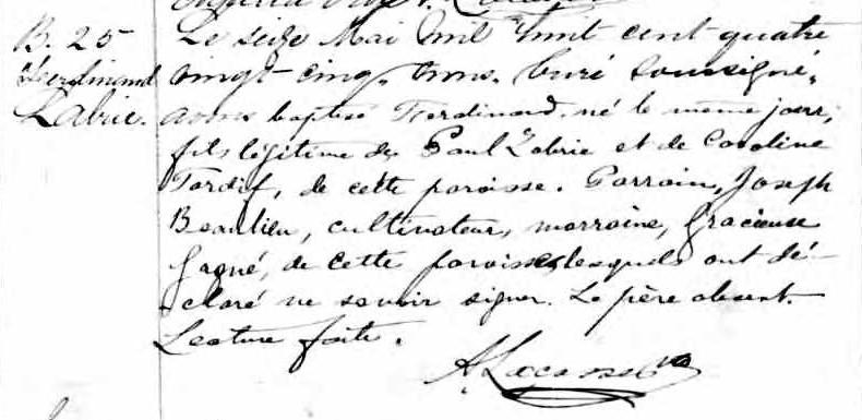 Recherche naissance et décès de Paul Miot dit Labrie? Ferdin11
