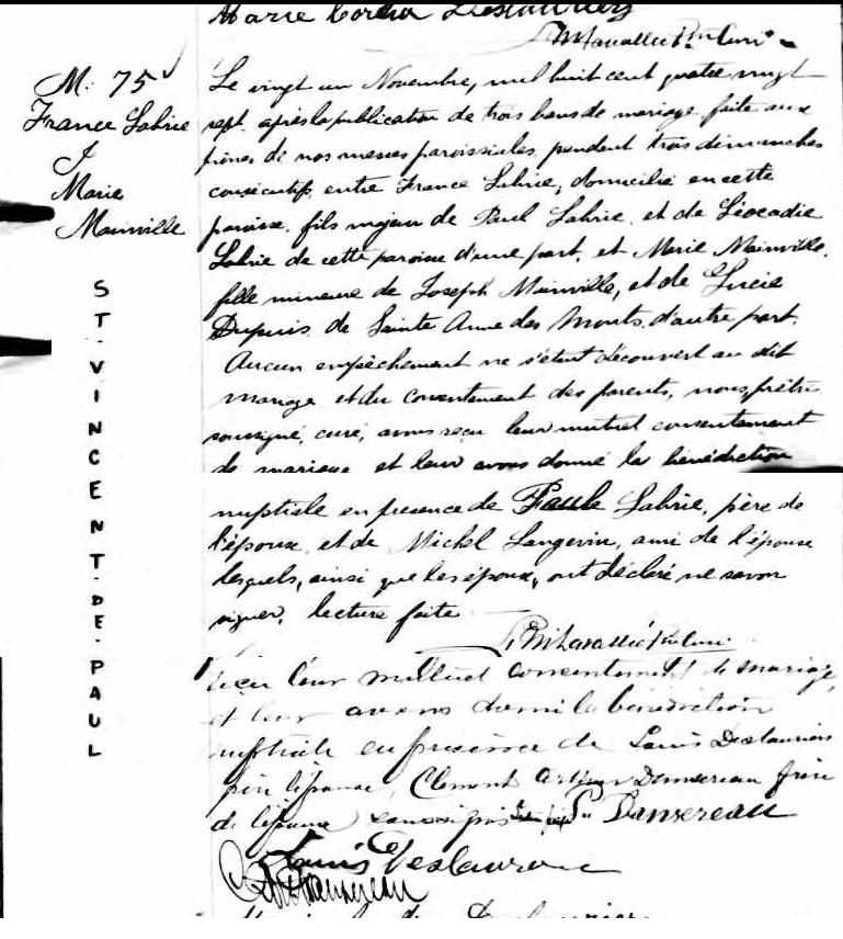 Recherche naissance et décès de Paul Miot dit Labrie? Mariag40