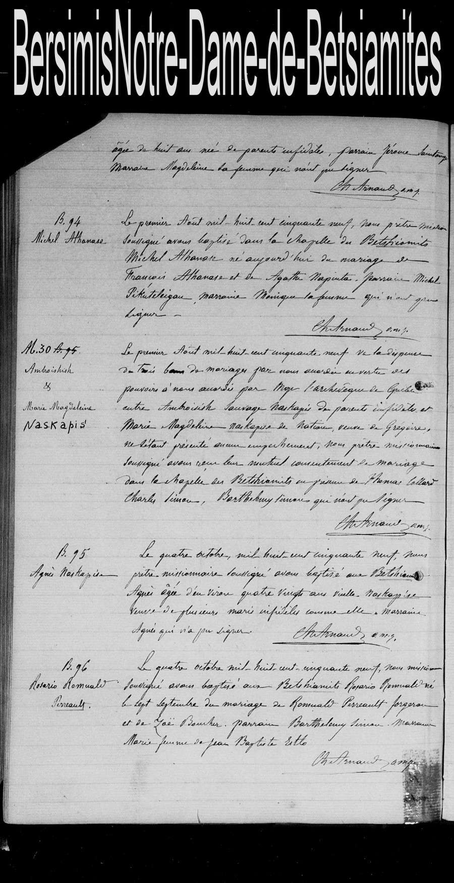 Lignée de Thomas Collard - Page 2 Mariag52