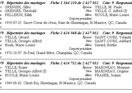 Houle Marie-Louise naiss-mariage Enfant13