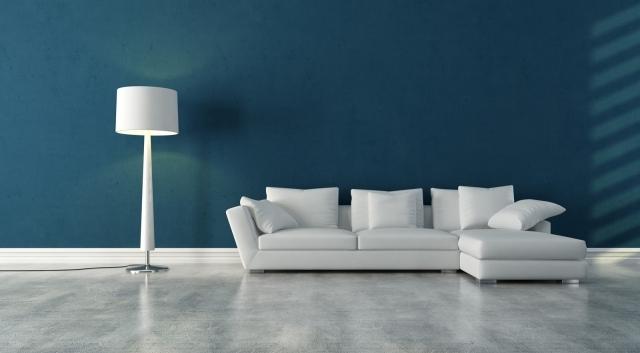 Idée peinture salon séjour / sol gris clair