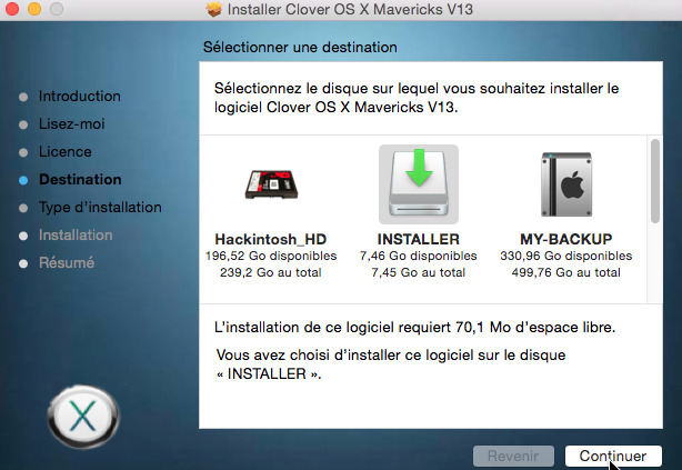 Installer OS X Mavericks V13 114