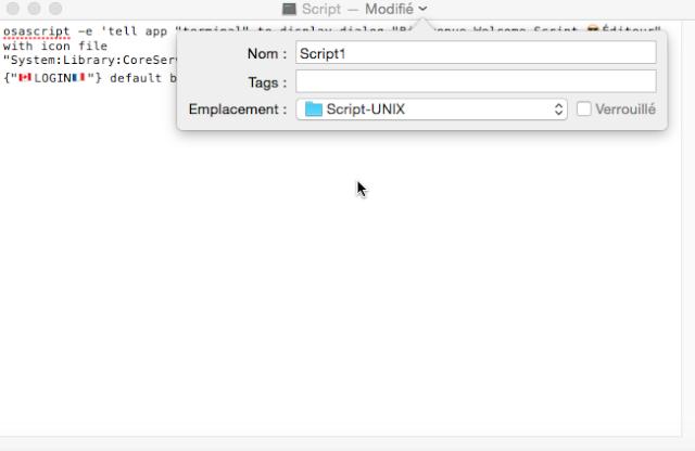 UNIX Script Éditeur.app 510