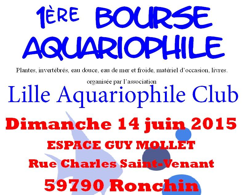 Premiere bourse aquario a Ronchin  Affich11