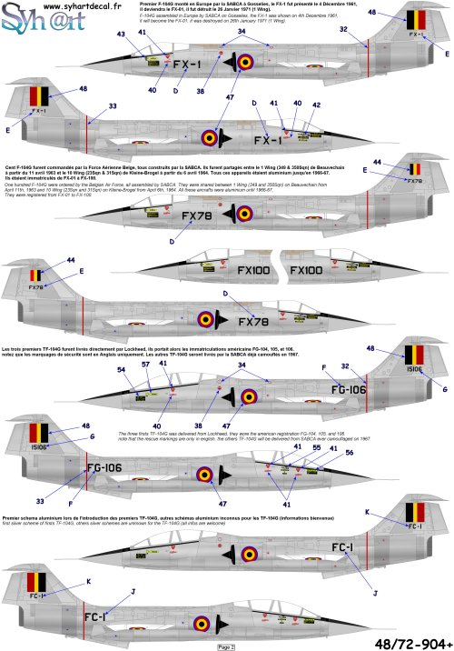 DUO: F-104N (NASA) + F-104G (BAF) Hazegawa 1/48  904_pl11